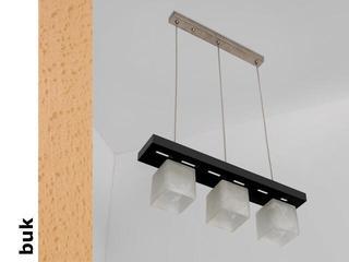 Lampa sufitowa AZUR DGB buk 1157DGB Cleoni