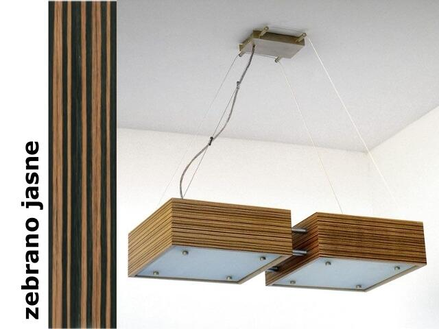 Lampa sufitowa CALYPSO DUE mała zebrano jasne 1206W2M207 Cleoni