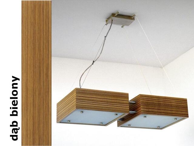 Lampa sufitowa CALYPSO DUE średnia dąb bielony 1206W2S208 Cleoni
