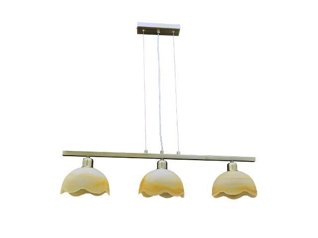 Lampa wisząca Alicja 3-płomienna AB BL276 WY Lumen Light