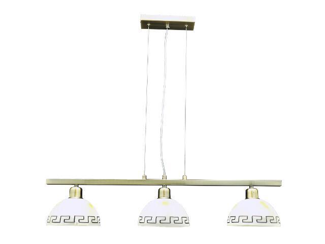 Lampa wisząca Alicja 3-płomienna AB BL65ST D180 Lumen Light