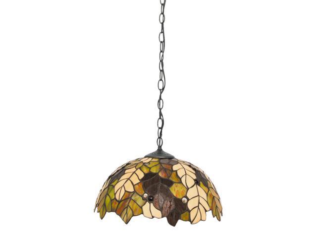 Lampa wisząca witrażowa Carson 1xE27 60W K-P161420 Kaja