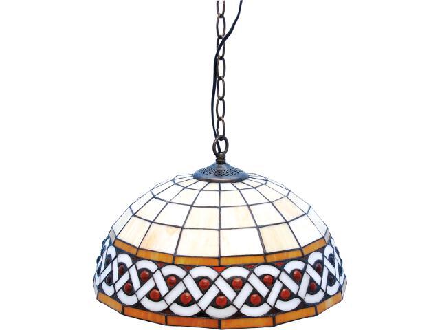 Lampa wisząca witrażowa Sargan 1xE27 60W K-P162208 Kaja