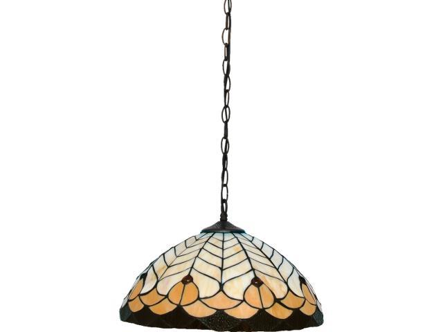 Lampa wisząca witrażowa Tifany 1xE27 60W K-P161551 Kaja