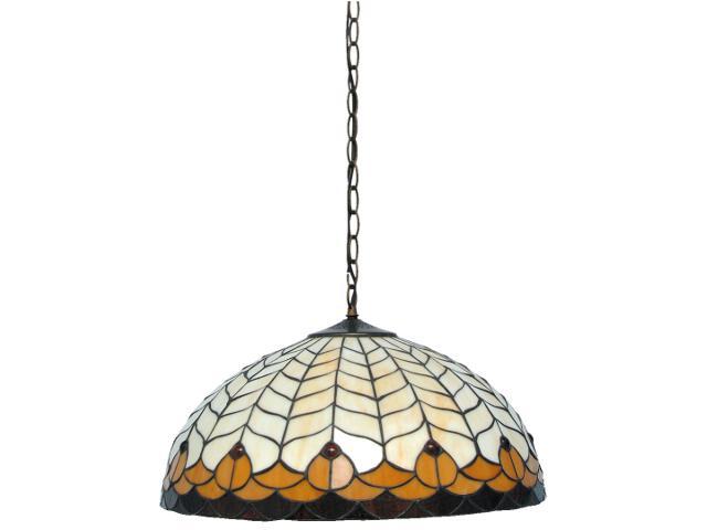 Lampa wisząca witrażowa Tifany 3xE27 60W K-P201551 Kaja