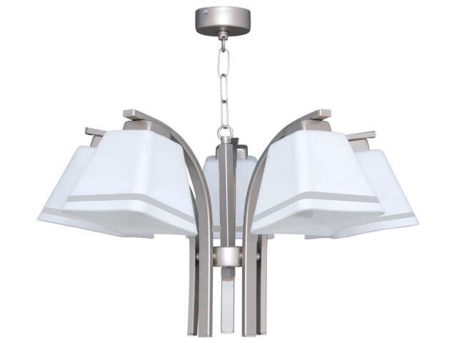 Lampa wisząca Neva Silver 5xE27 60W K-2751 Kaja