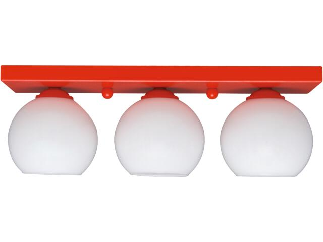 Lampa sufitowa Red 3xE27 60W K-2522 Kaja