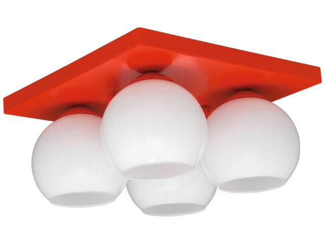Lampa sufitowa Red 4xE27 60W K-2523 Kaja