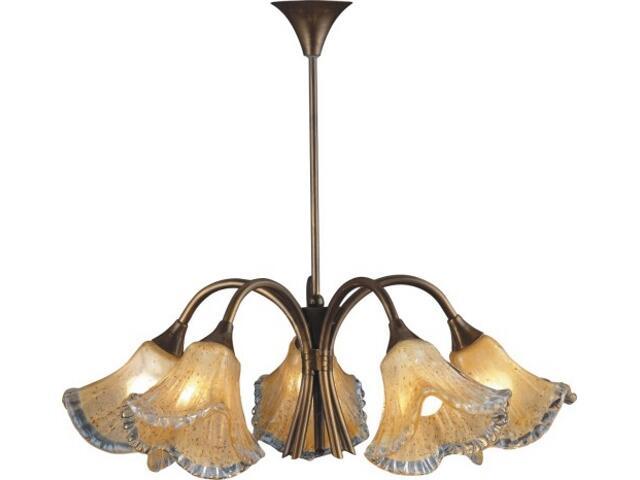 Lampa sufitowa BURSZTYN 5xE27 60W 373F Aldex