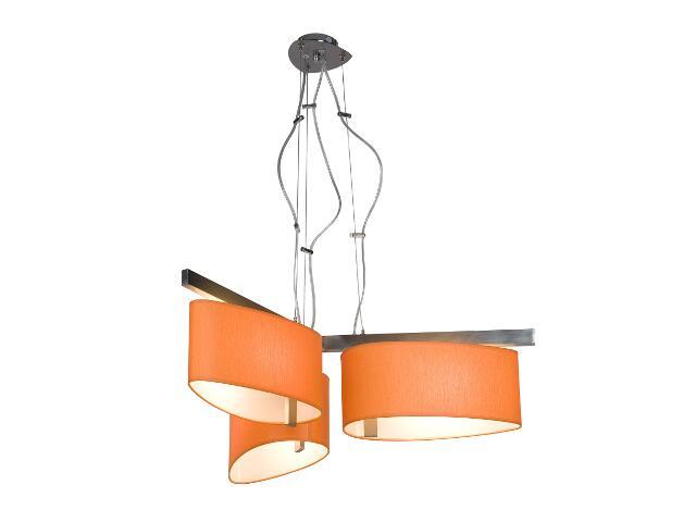 Lampa sufitowa KINGSTON3 3x60W E27 nikiel / pomarańczowa Sanneli Design