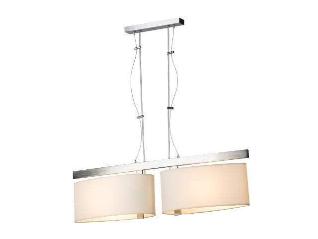 Lampa sufitowa KINGSTON1 2x60W E27 nikiel / kremowa Sanneli Design