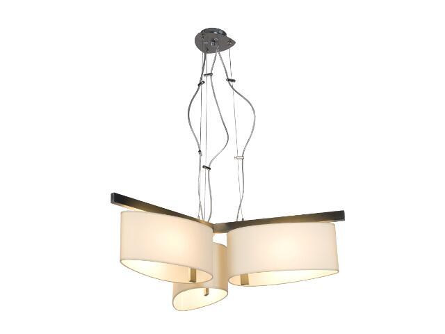 Lampa sufitowa KINGSTON1 3x60W E27 nikiel / kremowa Sanneli Design