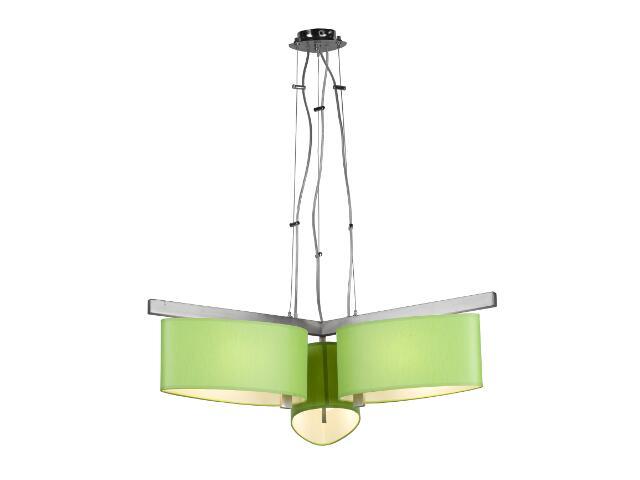Lampa sufitowa KINGSTON2 3x60W E27 nikiel / zielona Sanneli Design