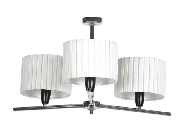 Lampa sufitowa Amsterdam1 3x60W E27 chrom / kremowa Sanneli Design