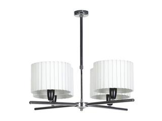 Lampa sufitowa Amsterdam1B 4x60W E27 chrom / kremowa Sanneli Design