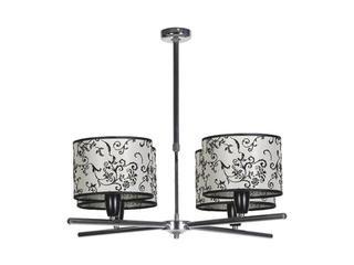 Lampa sufitowa Amsterdam2B 4x60W E27 chrom / beżowa Sanneli Design