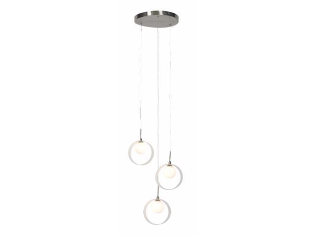 Lampa sufitowa Malaga 3x20W G4 nikiel Sanneli Design