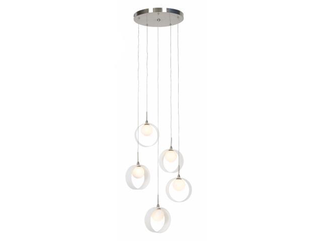 Lampa sufitowa Malaga 5x20W G4 nikiel Sanneli Design