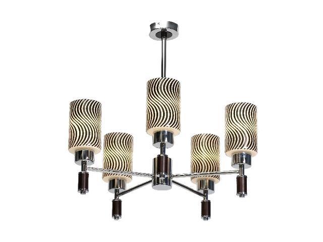 Lampa sufitowa Kair 5W 5x40W E14 chrom Sanneli Design