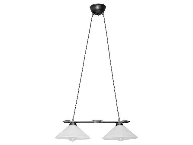 Lampa wisząca Deco prosta srebrna 2xE27 05108 Sigma