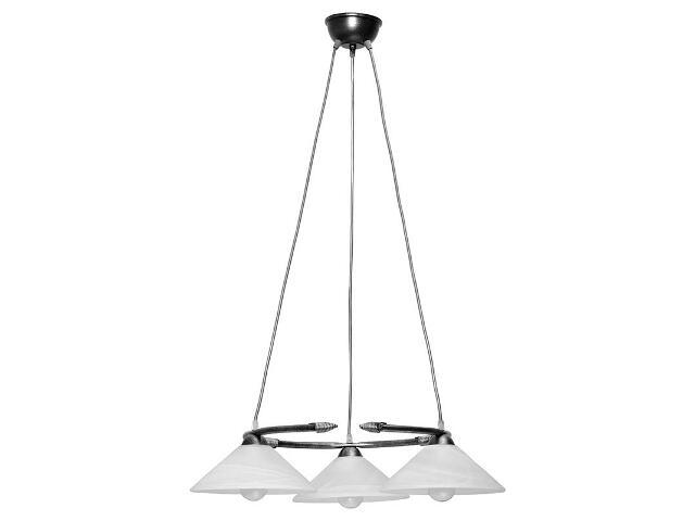 Lampa wisząca Deco koło srebrna 3xE27 05105 Sigma