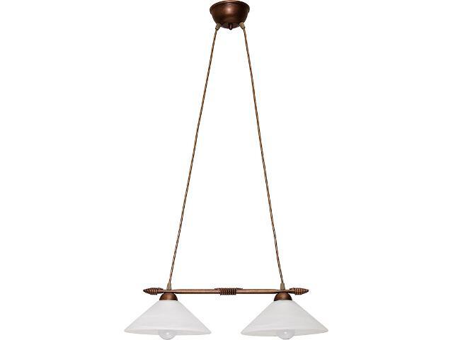 Lampa wisząca Deco prosta miedziana 2xE27 05107 Sigma