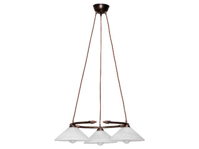 Lampa wisząca Deco koło miedziana 3xE27 05104 Sigma