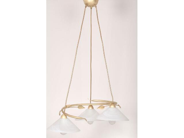 Lampa wisząca Wika koło złota 3xE27 01807 Sigma