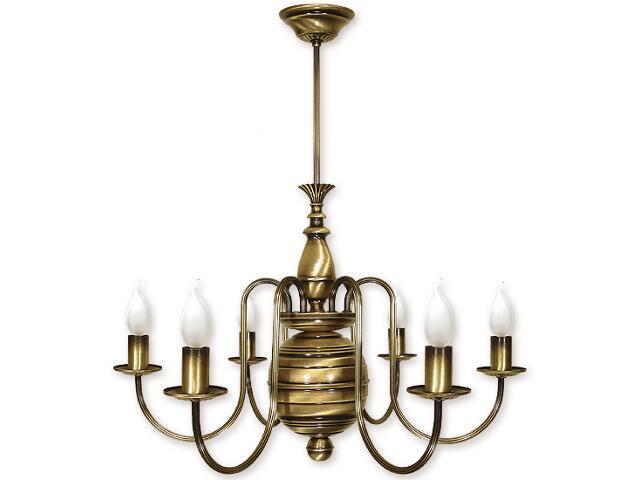 Lampa wisząca Kandelabr 6-płomienna patyna 193/W6 Lemir