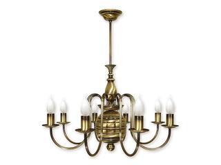 Lampa wisząca Kandelabr 8-płomienna patyna 194/W8 Lemir