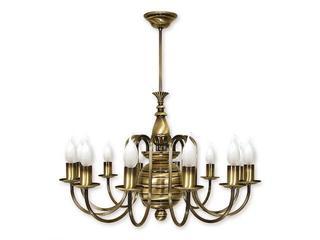 Lampa wisząca Kandelabr 12-płomienna patyna 196/W12 Lemir