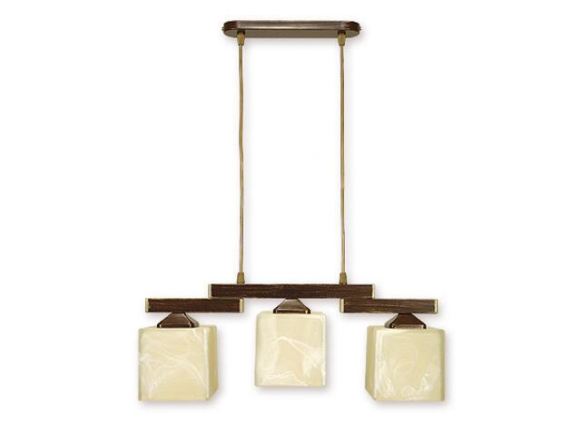 Lampa wisząca Kostka 3-płomienna brązowa O1063/W3 BR Lemir