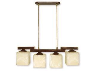 Lampa wisząca Kostka 4-płomienna brązowa O1064/W4 BR Lemir