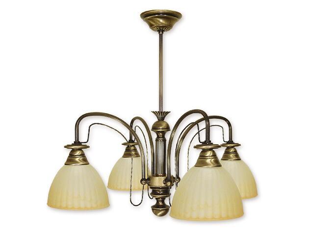 Lampa wisząca Żyrafa 4-płomienna patyna 214/W4 Lemir