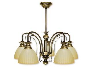 Lampa wisząca Żyrafa 5-płomienna patyna 215/W5 Lemir