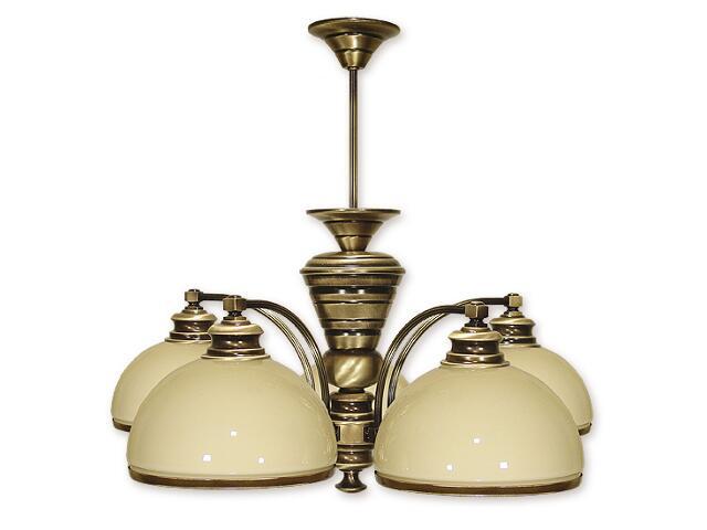 Lampa wisząca Olimp 5-płomienna patyna 265/W5 Lemir