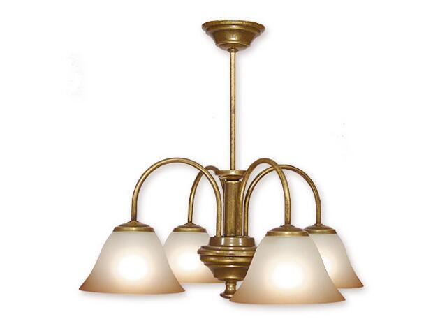 Lampa wisząca Lotos 4-płomienna patyna 284/W4 MAL Lemir