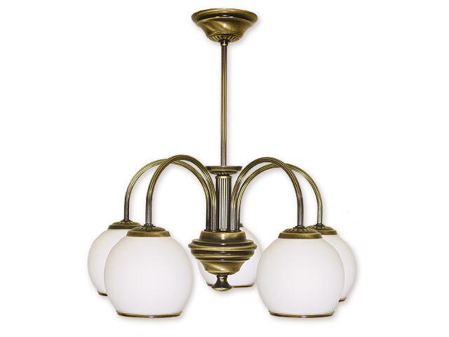 Lampa wisząca Rodos 5-płomienna patyna 285/W5 Lemir