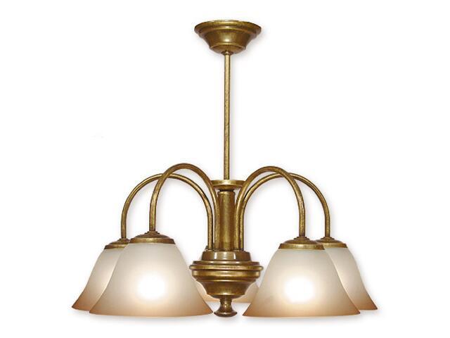 Lampa wisząca Lotos 5-płomienna patyna 285/W5 MAL Lemir