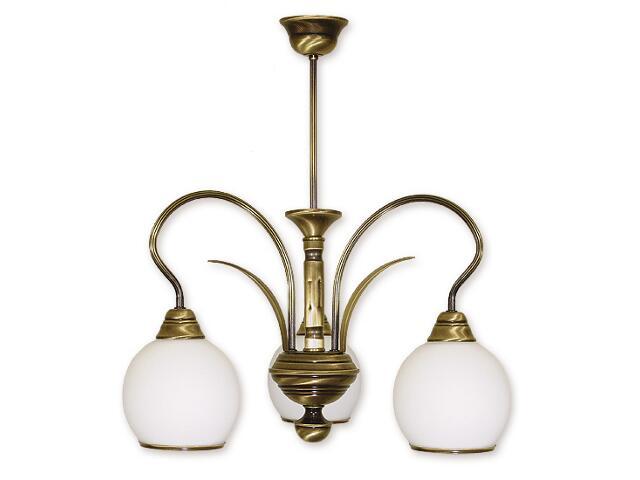 Lampa wisząca Karo 3-płomienna patyna 313/W3 Lemir
