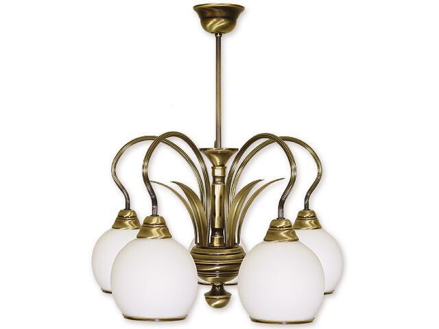 Lampa wisząca Karo 5-płomienna patyna 315/W5 Lemir