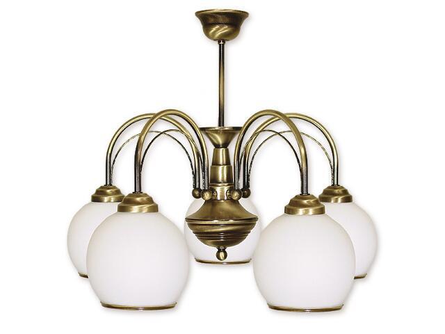 Lampa wisząca Koral 5-płomienna patyna 335/W5 Lemir