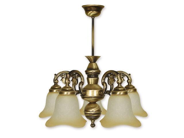 Lampa wisząca Retro 5-płomienna patyna 365/W5 Lemir