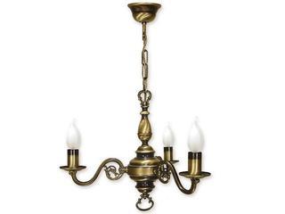 Lampa wisząca Świecznik 3-płomienna patyna 383/W3 Lemir