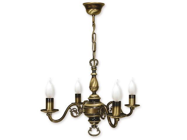 Lampa wisząca Świecznik 4-płomienna patyna 384/W4 Lemir