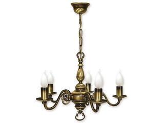 Lampa wisząca Świecznik 5-płomienna patyna 385/W5 Lemir