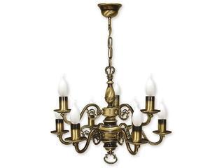 Lampa wisząca Świecznik 9-płomienna patyna 387/W9 Lemir
