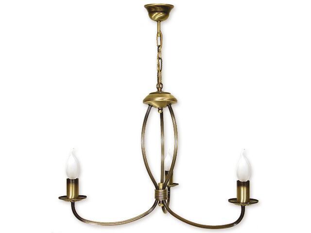 Lampa wisząca Korona 3-płomienna patyna 393/W3 Lemir