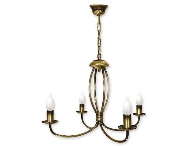 Lampa wisząca Korona 4-płomienna patyna 394/W4 Lemir