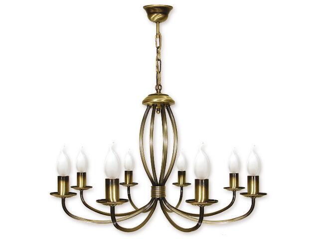 Lampa wisząca Korona 8-płomienna patyna 397/W8 Lemir